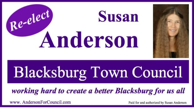 Re-elect Susan Anderson for Blacksburg Town Council